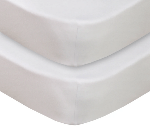 2 pack Jersey Cot Fitted Sheet