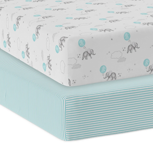 2 pack Jersey Cot Fitted Sheet5