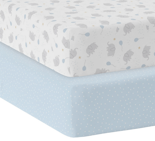 2 pack Jersey Cot Fitted Sheet8