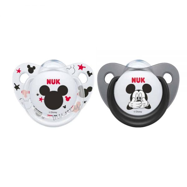 5560718 Mickey Soother size 1 2pk Black white