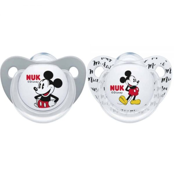 5560719 Mickey Soother 2pk size 2 Grey white 2019