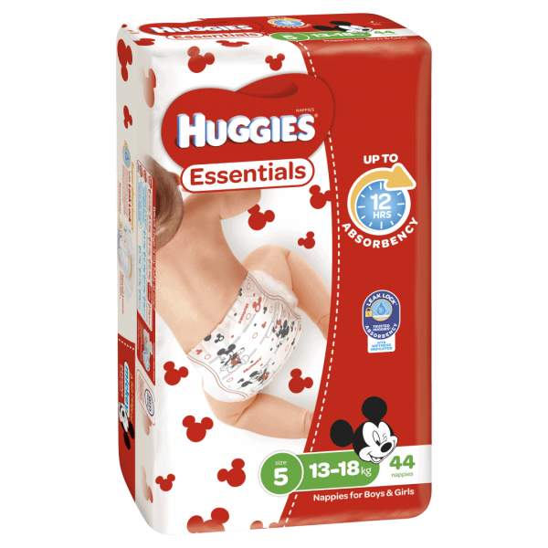 Huggies Essentials Nappies Unisex Size 5 13 18kg 44 Nappies 1