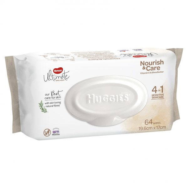 Huggies Ultimate Nourish Care Baby Wipes 64 wipes 0