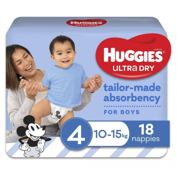 Huggies Ultradry Nappies Toddler Convenience Pixie Box Size 4 Boys 2