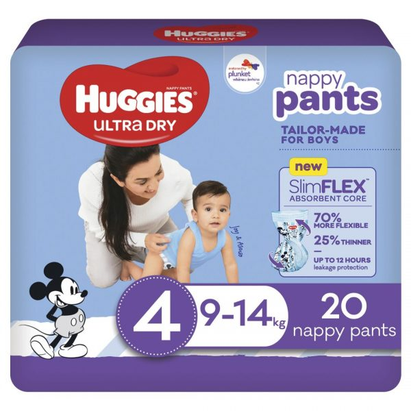 Huggies Ultradry Nappy Pants Toddler Convenience Pixie Box Size 4 Boys 2