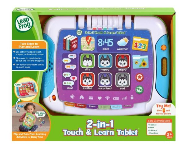 LEAPFROG 2 IN 1 TOUCH LEARN TABLET 3417766112361 HL611236