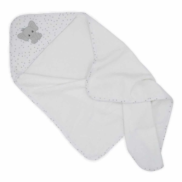 Living Textiles 4208929 Baby Hooded Towel Pitter Patter Elephant 2 scaled 1