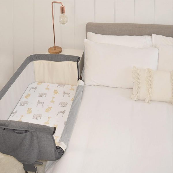 Living Textiles 9109929 2 pack Jersey Co Sleeper Fitted Sheets Savanna Babies Pitter Patter 3
