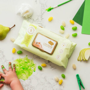 little genie Baby Wipes Compostable Fragrance Free 2