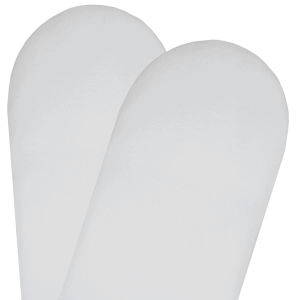 Living Textiles-9107701-2-pack Moses-Pram Fitted Sheets - White-0