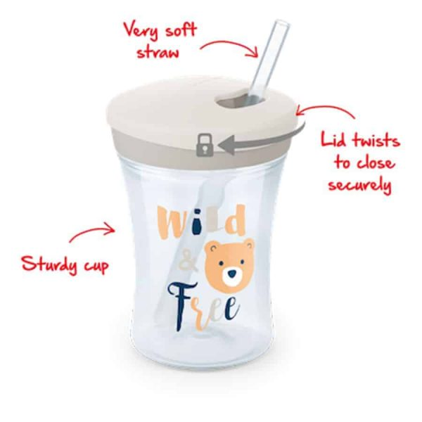 Nuk-action-cup-230ml-with-drinking-straw-white-1