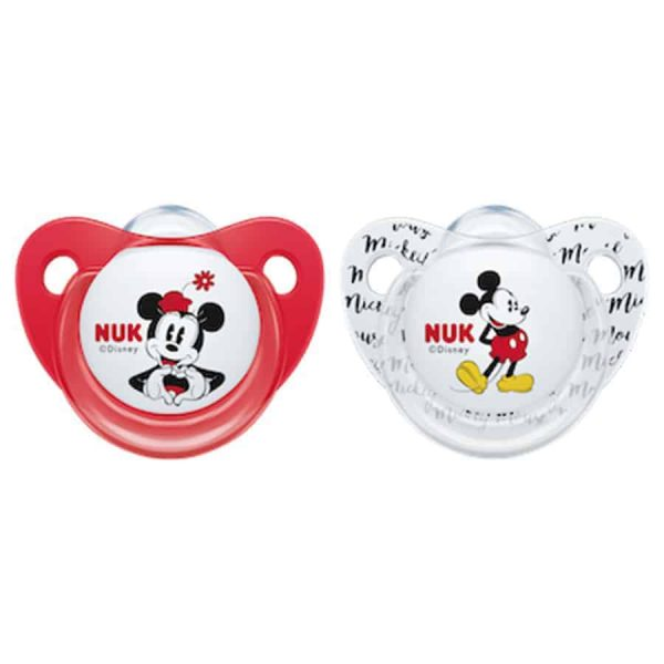 Nuk-disney-mikey-trendline-silicone-soother-red