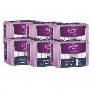 Poise Overnight Pads 8s - Shipper-0