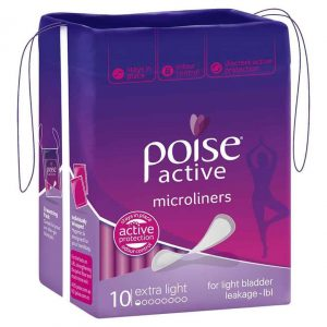 Poise Active Micro Liners Extra Light 10s-0