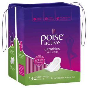 Poise Active Pads Ultrathins Regular with Wings 14s - Shipper-1977