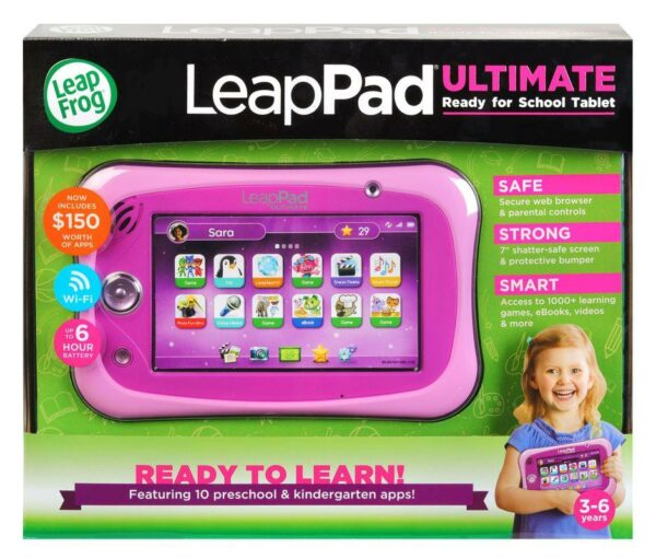 Leapfrog Leappad Ultimate Ready For School Tablet Pink 1