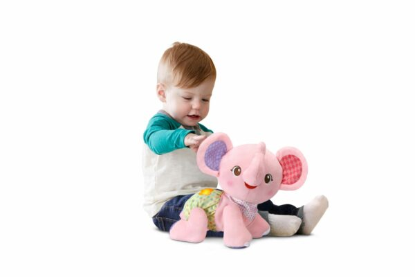VTECH BABY CRAWL WITH ME ELEPHANT PINK 3417765332531 H533293 6 1