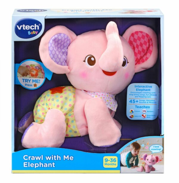 VTECH BABY CRAWL WITH ME ELEPHANT PINK 3417765332531 H533293 scaled 1