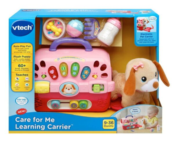 VTECH CARE FOR ME LEARNING CARRIER WITH PUPPY 3417761915004 H191500 2