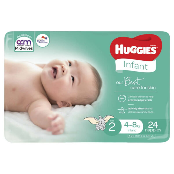 Huggies Infant Nappies Size 2 4 8kg 24 Pack 1