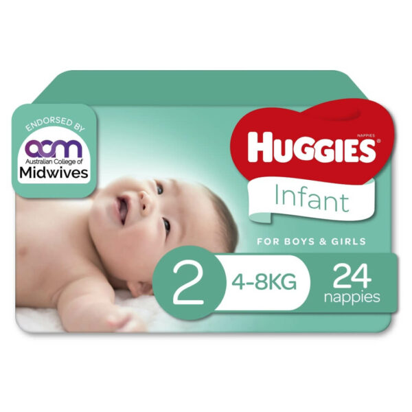 Huggies Infant Nappies Size 2 4 8kg 24 Pack 70