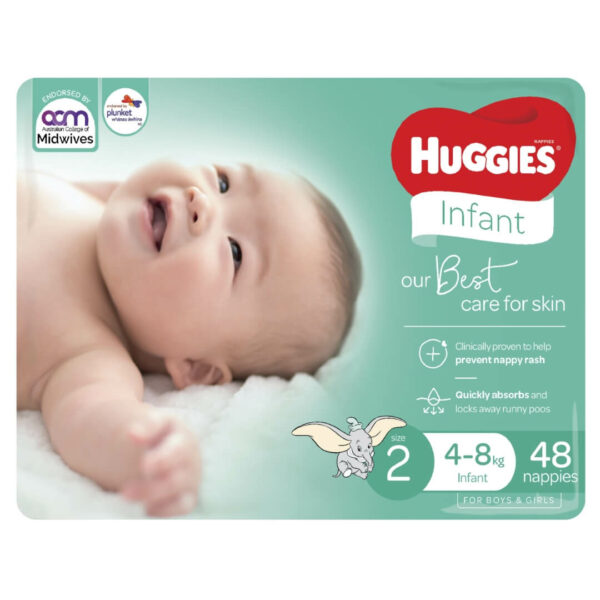 Huggies Infant Nappies Size 2 4 8kg 48 Pack 1