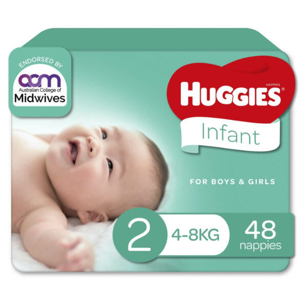 Huggies Infant Nappies Size 2 4 8kg 48 Pack 70