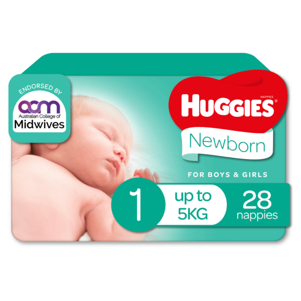 Huggies Newborn Nappies for Boys Girls Size 1 up to 5kg 28 Pack 70 Products