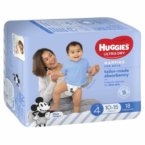 Huggies Ultradry Nappies Toddler Convenience Pixie Box Size 4 Boys 1
