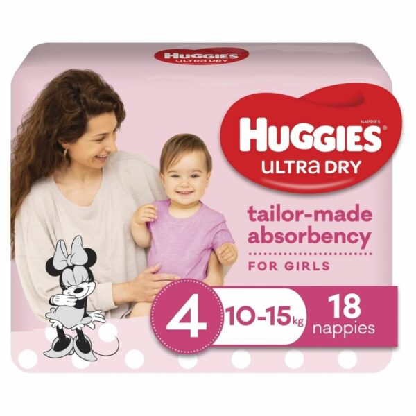 Huggies Ultradry Nappies Toddler Convenience Pixie Box Size 4 Girls 2