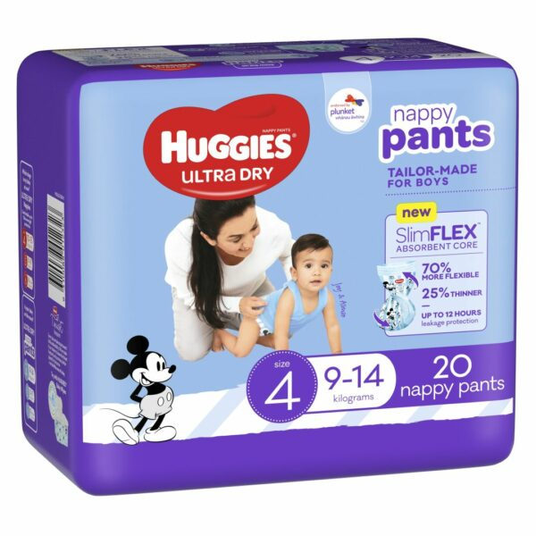 Huggies Ultradry Nappy Pants Toddler Convenience Pixie Box Size 4 Boys 1