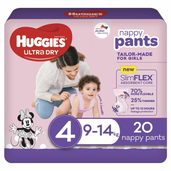 Huggies Ultradry Nappy Pants Toddler Convenience Pixie Box Size 4 Girls 2