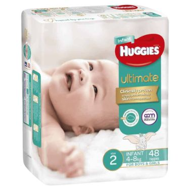 'Monster Box' Huggies Ultimate Nappies Stage 2 Unisex 4-8kg (Infant) 192s-10994
