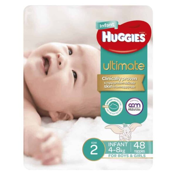 'Monster Box' Huggies Ultimate Nappies Stage 2 Unisex 4-8kg (Infant) 192s-10995