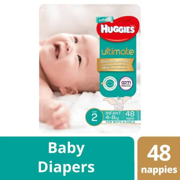 'Monster Box' Huggies Ultimate Nappies Stage 2 Unisex 4-8kg (Infant) 192s-10996
